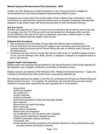 Check List For Sending Medical Reimbursement Proposal
