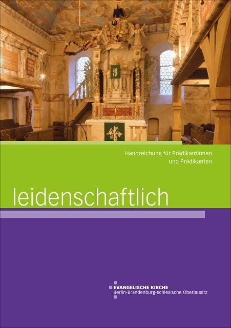 Handreichung für Prädikantinnen und Prädikanten