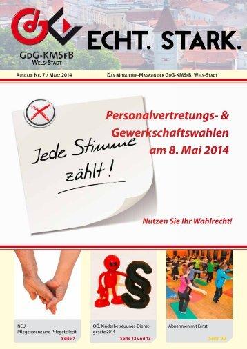 GdG-KMSfB Wels-Stadt ECHT.STARK. Ausgabe Nr. 7 / März 2014