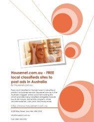 Housenet.com.au - FREE local classifieds sites to post ads in Australia