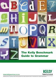 The Kelly Benchmark Guide to Grammar