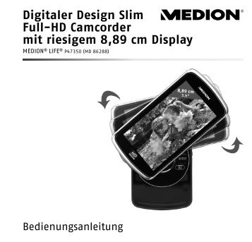 Digitaler Design Slim Full-Hd Camcorder mit riesigem 8 89 ... - Medion