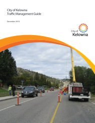 City of Kelowna Traffic Management Guide