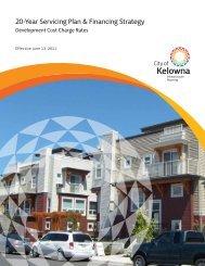 20-Year Servicing Plan & Financing Strategy - City of Kelowna