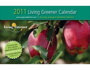 2011 Living Greener Calendar - City of Kelowna