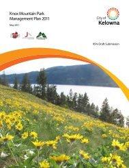 Knox Mountain Park Management Plan 2011 - City of Kelowna