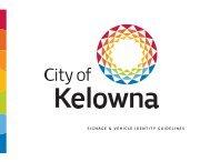 SIGNAGE & VEHICLE IDENTITY GUIDELINES - City of Kelowna