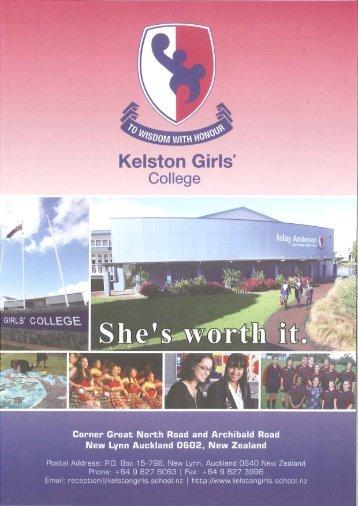 June 2013 (1.45 MB) - Kelston Girls' College