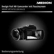 Design Full HD Camcorder mit Touchscreen - Medion