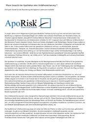 Wann braucht der Apotheker eine Unfallversicherung ?