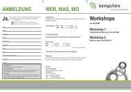 Workshops zur VDI 2290 - Kempchen Dichtungstechnik GmbH