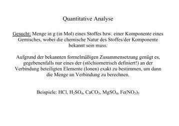 Quantitative Analyse - KemnitzLab