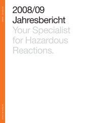 2008/09 Jahresbericht Your Specialist for Hazardous ... - Dottikon