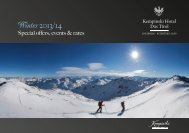Hotel brochure winter 2013 (PDF) - Kempinski Hotels
