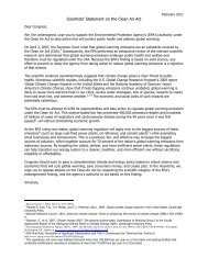 Letter from Climate Scientists, March 8, 2011 - Committee on Energy ...