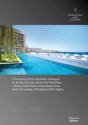 Crowned by Petra's mountains, embraced by the ... - Kempinski Hotels