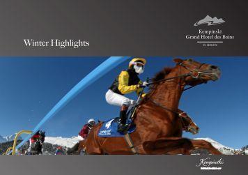 Winter Highlights - Kempinski Hotels