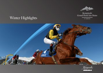 Winter Highlights - Kempinski Hotels