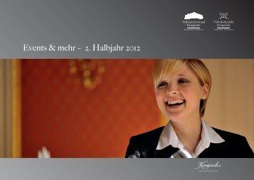 Events & mehr – 2. Halbjahr 2012