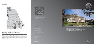 Meeting- und Bankett-Räume Festsäle - Kempinski Hotels