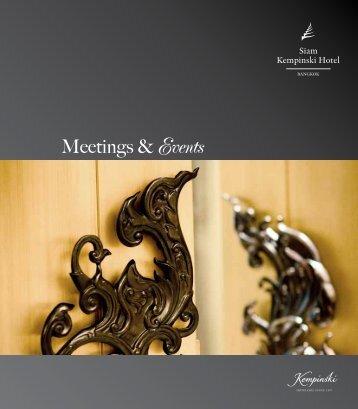 Meetings & Events - Kempinski Hotels