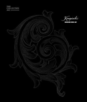 THE COLLECTION 2013 - Kempinski Hotels