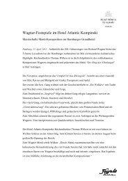 PM_Wagner-Festspiele im Hotel Atlantic ... - Kempinski Hotels