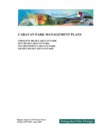 Caravan Park Management Plans - Kempsey Shire Council