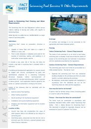 Swimming pool barriers & other requirements - Fact sheet (PDF ...