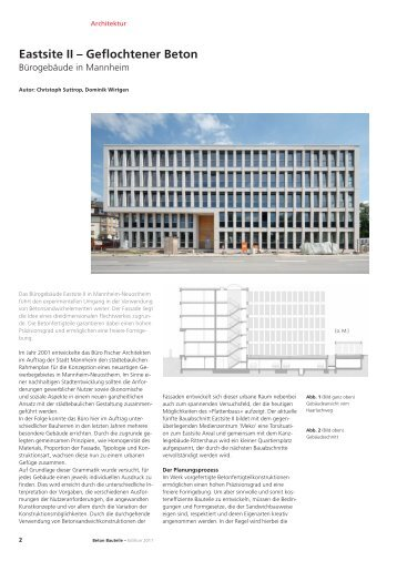 Eastsite II – Geflochtener Beton - Dreßler-Bau