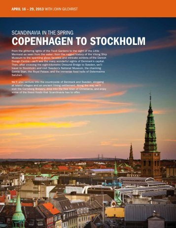 copenhagen To Stockholm - University of Calgary Continuing ...