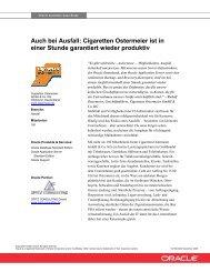Auch bei Ausfall: Cigaretten Ostermeier ist in ... - Opitz Consulting