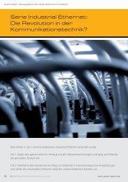 Serie Industrial Ethernet: Die Revolution in der ... - VARAN Bus