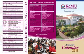 Academic Calendar - Kenya Methodist University
