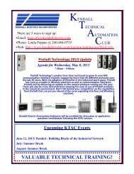 VALUABLE TECHNICAL TRAINING! - Kendall Electric Inc