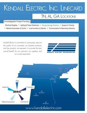 Kendall TN,AL,GA.indd - Kendall Electric Inc