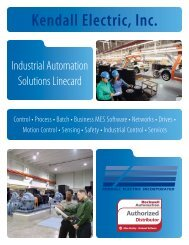 Industrial Automation Linecard - Kendall Electric Inc