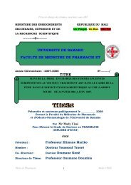 titre universite de bamako faculte de medecine de pharmacie et