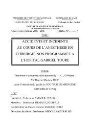 accidents et incidents au cours de l'anesthesie en chirurgie non ...