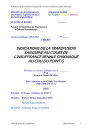 indications de la transfusion sanguine au cours de l'insuffisance ...