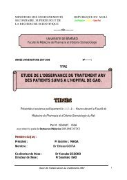etude de l'observance du traitement arv des patients suivis a l ...