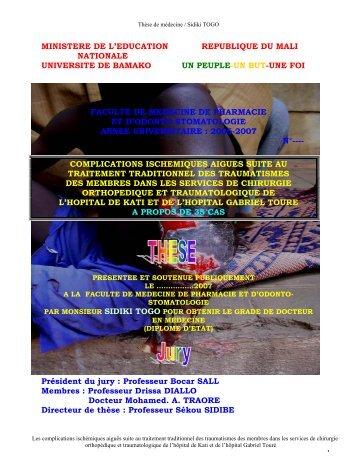 ministere de l'education republique du mali nationale universite de ...