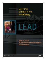 Leadership Exchange in Arts and Disability - The John F. Kennedy ...