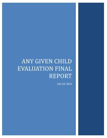 Any Given Child Evaluation Final Report - The John F. Kennedy ...