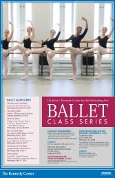 Download a Brochure - The John F. Kennedy Center for the ...