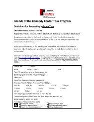 Group Tour Request form