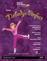 Nobody's Perfect Press Kit - The John F. Kennedy Center for the ...