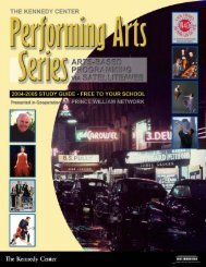 04-05 Guide - John F. Kennedy Center for the Performing Arts