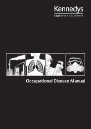 Download our Occupational Disease Manual (PDF ... - Kennedys