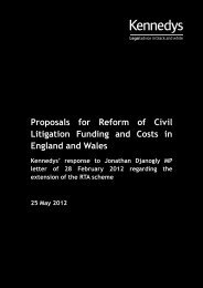 Download Kennedys' response to the MoJ consultation about Portal ...